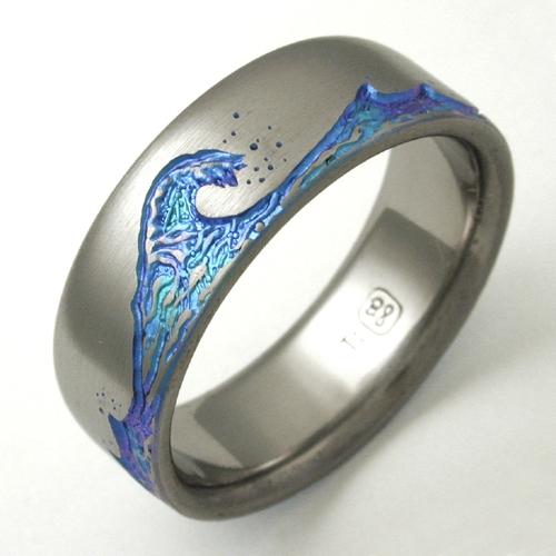 Titanium Paradise Titanium Wedding Rings Handcrafted By