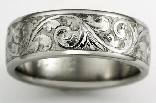 Exeter titanium wedding ring
