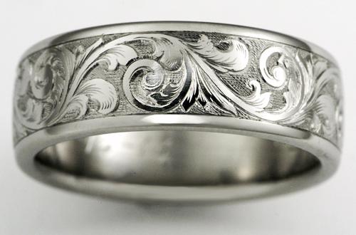 Exeter titanium wedding ring