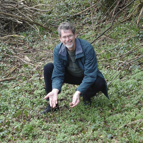 Chris Boothe at the location where titanium was discovered