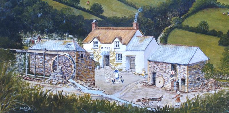 Painting of Tregonwell Mill by John Whale
