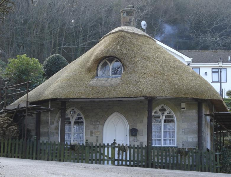 A newly thatched house