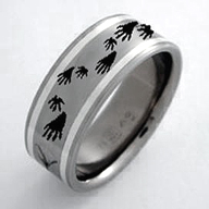Mock-up of the ring with raccoon tracks