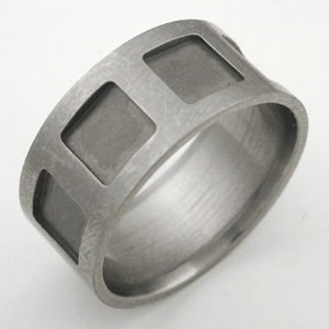 A titanium ring, before resizing