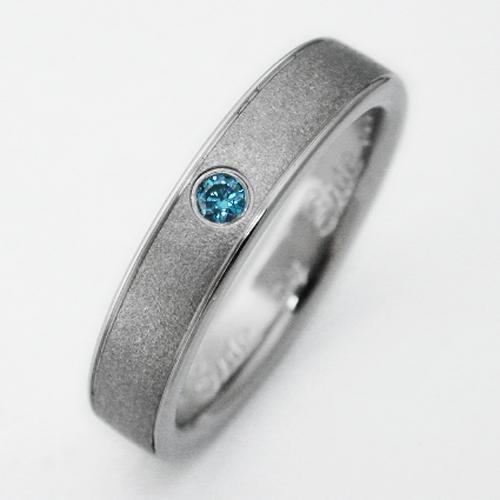 Birken 2 Titanium Ring With Blue Diamonds Titanium