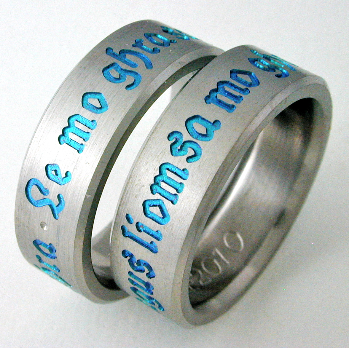 Centuria 3 Titanium Ring With Celtic Style Titanium