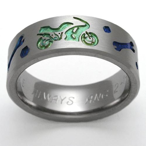 titanium wedding ring by exotica jewelry - Biker Wedding Rings