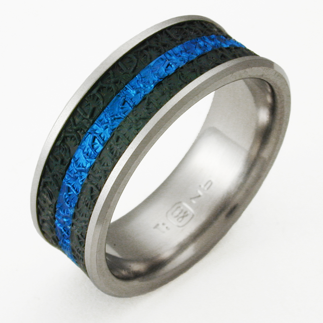 mens ring s men inlay band rings with hawaiian wedding wood koa turquoise titanium