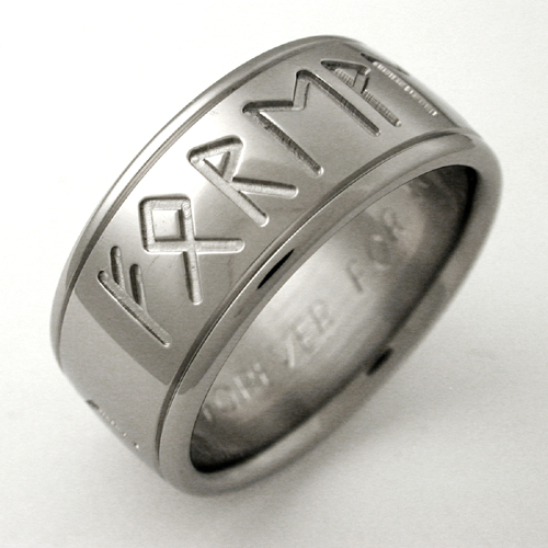 Runes 1 Titanium Ring With Symbols Titanium Wedding